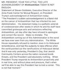 anne frank center condemns trump sean spicer responds annefrankcenter us verified account annefrankcenter acircmiddot feb 21