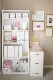 the prettiest organizational hacks for every room in your home glitter and pink office basement office setup 3 primary
