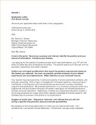 Job Application Letter For Bank Clerk Basic Job Appication Letter