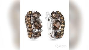 Золотое кольцо,<b>серьги с бриллиантами</b>, <b>раухтопазами</b> купить в ...