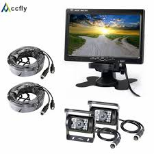 Accfly 12V 24V HD dual <b>car reverse rear view</b> camera for Trucks bus ...