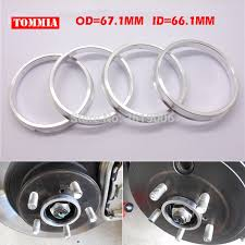 <b>4pcs Car Wheel</b> Hub Centric Spigot Rings 67.1mm OD to 66.1mm ID ...