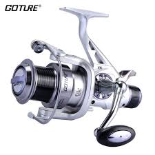 Goture Long Casting <b>Spinning Fishing Reel Metal</b> Spool Double ...