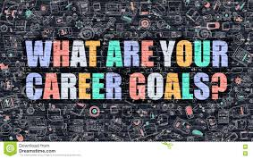 what are your career goals on dark brick wall stock illustration what are your career goals on dark brick wall