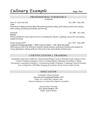 arts sous example download pdf chef resume objective