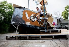 wtd another highlight was the bmx show infront of import export kantine watching these guys doing tricks and biking on the nomadic sculpture is another example