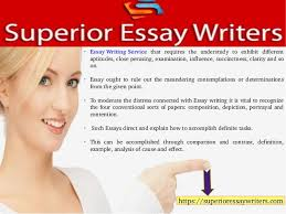 guide to different kinds of essay writing service