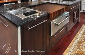 countertops dark wood kitchen islands table: lovable dark brown walnut butcher block countertop kitchen
