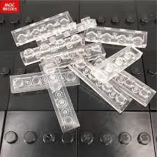 <b>100pcs</b>/<b>lot</b> MOC Building Blocks transparent clear plate 1x1 plate ...