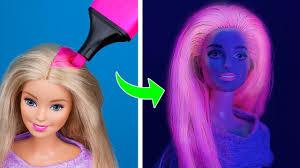 11 лайфхаков для <b>куклы</b> Барби / Причёски для Барби за минуту ...