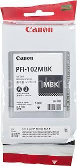 Купить <b>Картридж CANON PFI</b>-<b>102MBK</b>, черный матовый в ...