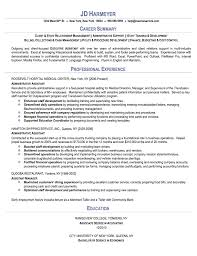 administrative assistant job resume examples  sample    executive administrative assistant resume sample