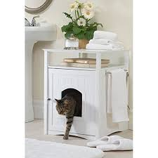 merry products hidden cat litter box enclosure give your cat privacy and your house class arena kitty litter box