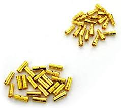 REES52 <b>20 Pairs</b> 3.5mm <b>Gold Plated</b> Male & Female Bullet Banana ...