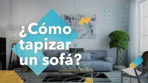 ¿Cómo tapizar un sofá? - habitisismo - YouTube