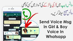 How to change <b>voice</b> on whatsapp   <b>Record Voice</b> Msg in Girl <b>Voice</b> ...
