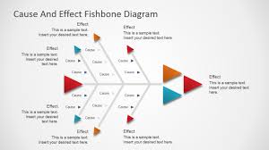 flat fishbone diagram for powerpoint   slidemodelflat fishbone diagram for powerpoint