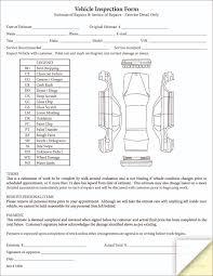 vehicle inspection estimate form