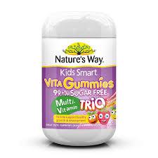 Kids Smart Vita Gummies <b>Sugar Free Multi</b> Trio 75s - Nature's Way