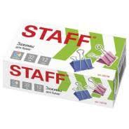 <b>Зажим</b> д/бумаг 32мм <b>Staff</b> картон. упак, цветной, /12/, 225158 ...