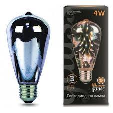 <b>Лампа Gauss</b> LED <b>3D</b>-<b>Butterfly</b> E27 4W <b>147802404</b> купить в ...