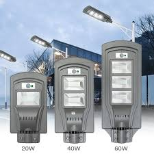 <b>LED</b> Solar Lamp Wall Street Light <b>20W</b>/<b>40W</b>/<b>60W</b> Dusk to Dawn ...
