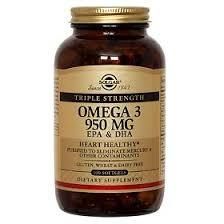 Солгар <b>Тройная Омега-3 ЭПК</b>/ДГК <b>950 мг</b> капсулы, 100 шт ...