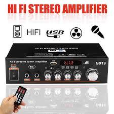 12V/220V <b>360W</b> G919 <b>Mini</b> Amplificador Audio bluetooth Stereo ...