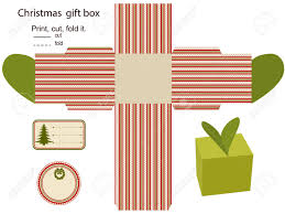 gift box isolated christmas pattern empty label template royalty gift box isolated christmas pattern empty label template stock vector 15762018