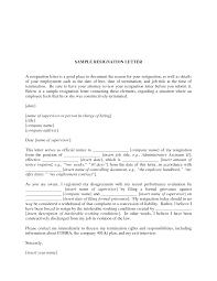 resume templates resignation letter hostile work environment resignation letter template pdf example of professional letter of resignation sample letter of