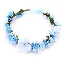 Women Wedding Rose Artificial <b>Flower garland Wreath headband</b> ...