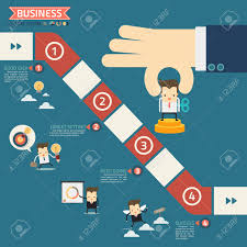 job board cliparts stock vector and royalty job board job board wind up doll in step for success business game concept