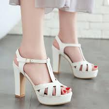 <b>Gladiator</b> Sandals <b>Platform</b> Open Toe <b>Chunky High Heel</b> Party ...