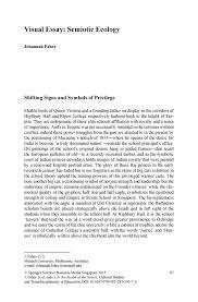 visual essay  semiotic ecology   springerinside