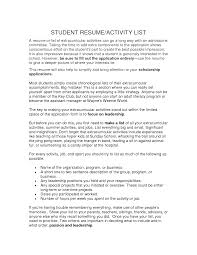 extracurricular activities resume template template extracurricular activities resume template