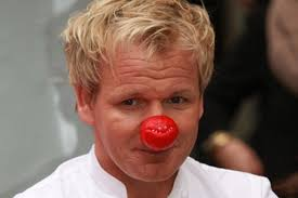 "One said: ""I'll probably never be served by a Michelin star chef again. But I have to say, his curry was fantastic."" Gordon Ramsey supporting Red Nose Day ... - gordon-ramsey-supporting-red-nose-day-pic-dm-236041607-108660"