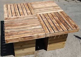 diy pallet patio furniture. reclaimed pallet outdoor table diy patio furniture