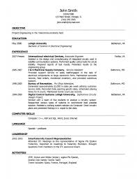 resume template example of park sampl regard to  81 marvelous resume template word 81 marvelous resume template word