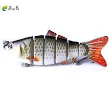 2019 <b>HENGJIA Fishing Wobblers Lifelike</b> Fishing Lure 6 Segment ...