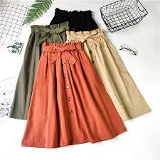 CRAZY DEAL <b>Banulin Summer</b> Autumn Skirts <b>Womens 2019</b> Midi ...