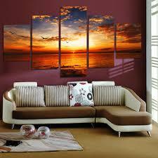 <b>5 Piece HD</b> Sea View Art Painting Oil <b>Print</b> On Canvas Wall Home ...