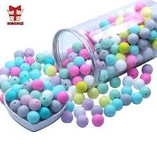 BOBO.BOX 10Pcs <b>Silicone</b> English <b>Alphabet Beads Letter BPA Free</b> ...