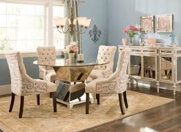 small dining tables sets:  cool remodeling kitchen table sets with glittering chrome pedestal legs