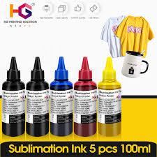 5 BottLe <b>Inkjet</b> Sublimation <b>Ink Refill</b> Universal 100ML For Epson ...