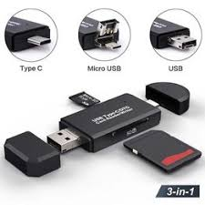 Type C & Micro USB & USB 3 In 1 OTG Card Reader High ... - Vova