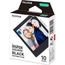 <b>Fujifilm</b> instax <b>SQUARE</b> Instant <b>Color Film</b>, 10 Exposures, Black Frame