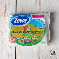 <b>Детская влажная туалетная бумага</b> Zewa Kids ~ 42 шт. купить в ...