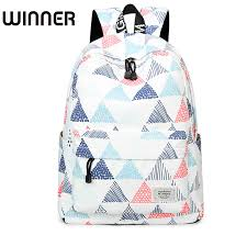 <b>High</b> Quality Waterproof <b>Backpacks Women</b> Geometric Printing ...