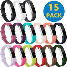 15 Pack Bands Compatible with <b>Fitbit Alta</b>/<b>Alta HR and Fitbit Ace</b> ...