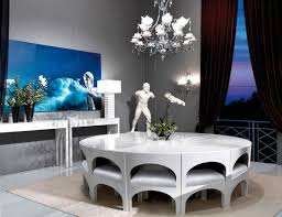 italian lacquer dining room furniture. visionnaire coliseum luxury italian designer dining table in white veneered plain wood with inlayed zodiac signs lacquer room furniture